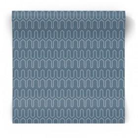 Granatowa tapeta geometryczne wzory GX37618