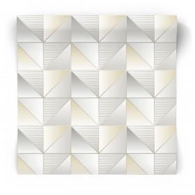 Szara tapeta geometryczna GX37631