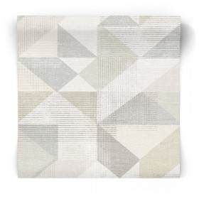 Beżowa tapeta geometryczna GX37651