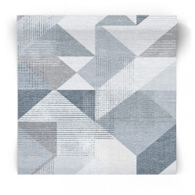 Niebieska tapeta geometryczna GX37654