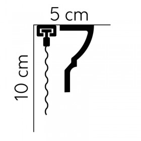 Biała listwa karniszowa QL066