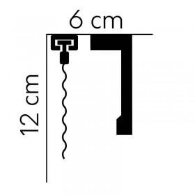 Biała listwa karniszowa QL116