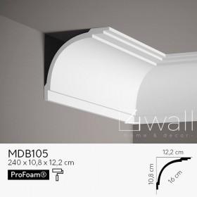 Listwa przypodłogowa biała MDB105