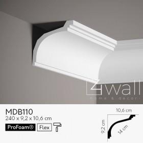 Listwa przypodłogowa biała MDB110