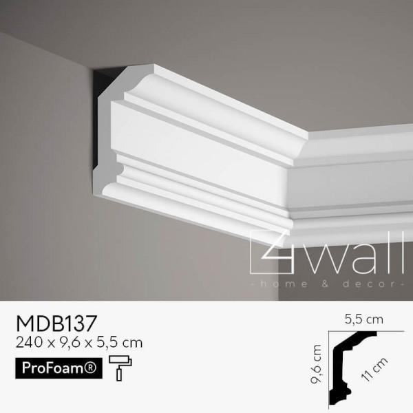 Listwa przypodłogowa biała MDB137