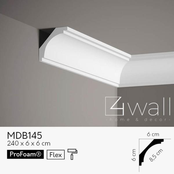 Listwa przypodłogowa biała MDB145