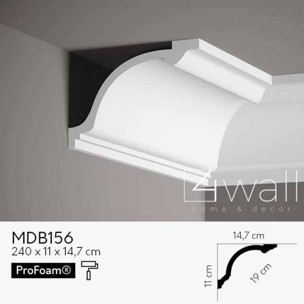 Listwa przypodłogowa biała MDB156