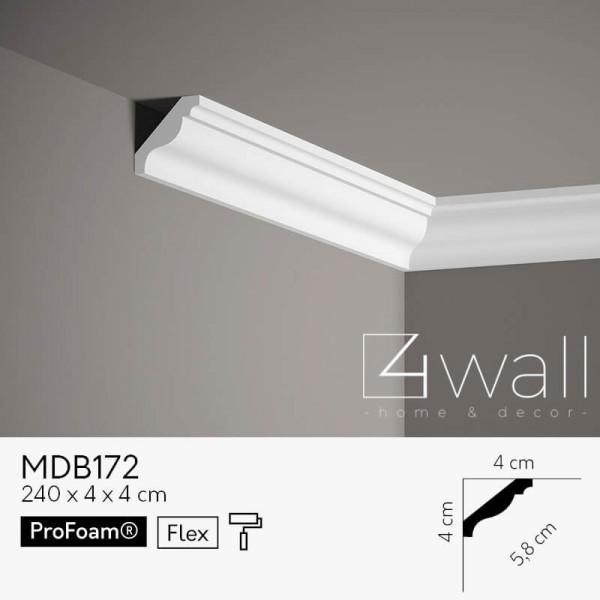 Listwa przypodłogowa biała MDB172