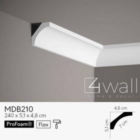 Listwa przypodłogowa biała MDB210