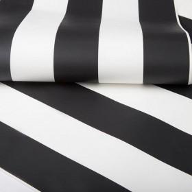 Tapeta w czarno białe pasy