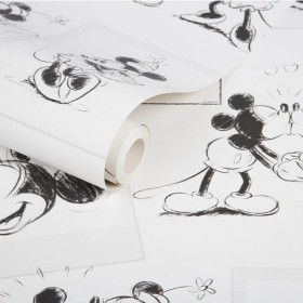 Czarno biała tapeta myszka mickey
