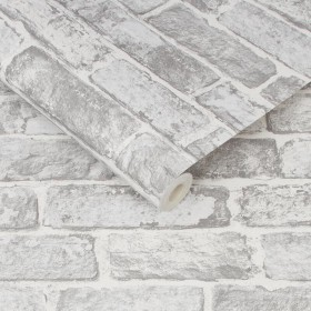 Tapeta imitacja szarej cegły 3d