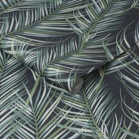 Tapeta w tropikalne liście 100558