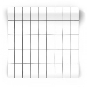 Czarno biała tapeta skandynawska geometryczna 139030
