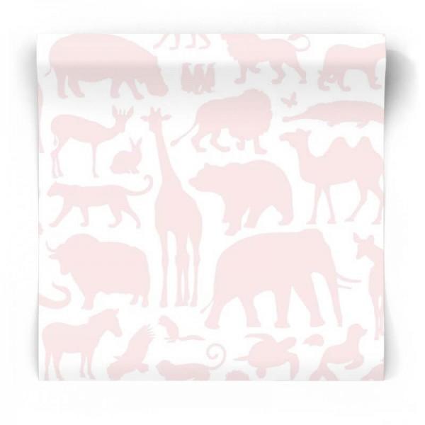 Różowa tapeta do pokoju dziewczynki 139052