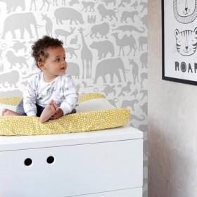 Tapeta dziecięca szara do pokoju