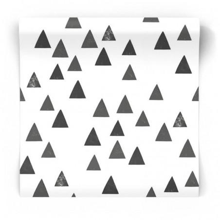Czarno białe trójkąty tapeta skandynawska 139057