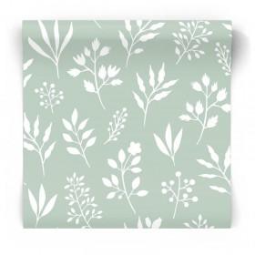 Miętowa tapeta roślinki kwiaty 139085