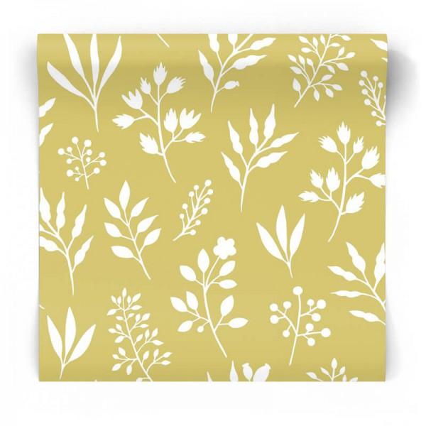 Żółta tapeta rośliny kwiaty 139086