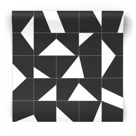 Czarno biała tapeta geometryczne wzory 139087