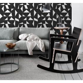 Tapeta 139087 geometyczna czarno biała