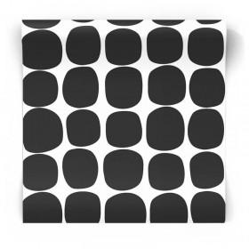 Geometryczna tapeta czarno biała 139090