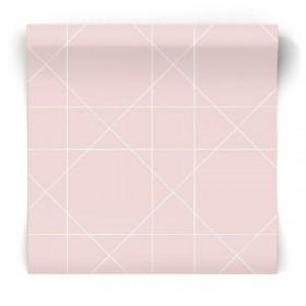 Różowa tapeta geometryczna 139091