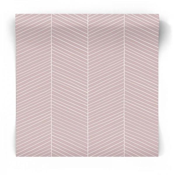 Różowa tapeta w jodełkę 139107