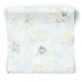 Pastelowaw tapeta w kwiaty