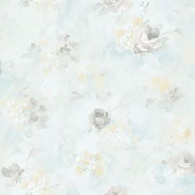 Malowana tapeta ścienna w kwiaty