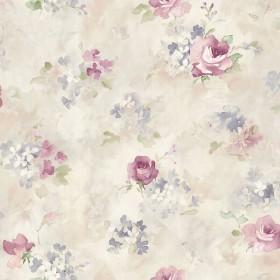 Tapeta pastelowa kwiaty malowane