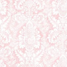 Różowa tapeta w stylu pałacowym ornament