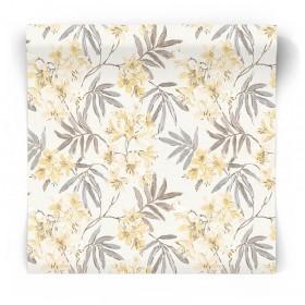 Tapeta w zółte kwiaty