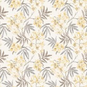 Tapeta w kwiaty żółta