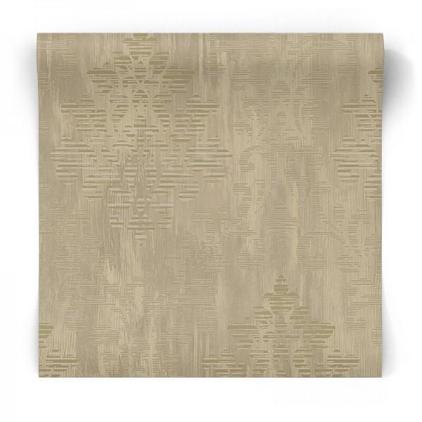 Złota tapeta w ornamenty W78178