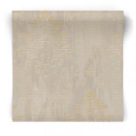 Tapeta beżowo złota glamour W78179