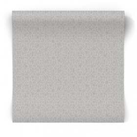 Szaro srebrna tapeta geometryczna W78186