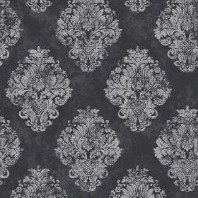 tapeta czarna srebrne ornamenty