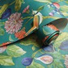 turkusowa w kwiaty