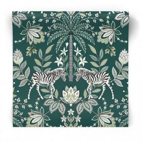 Zielona tapeta egzotyczna 91093