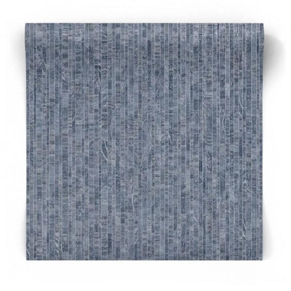 Tapeta niebieska srebrne pasy 91122