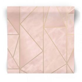 Geometryczna różowa tapeta 91144