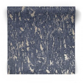 Granatowa tapeta strukturalna błyszcząca