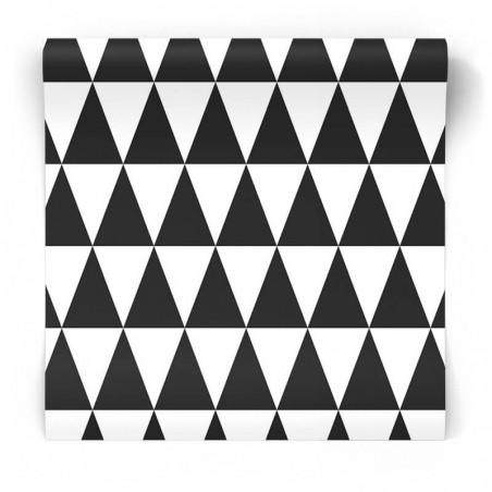 Tapeta w czarno białe trójkąty