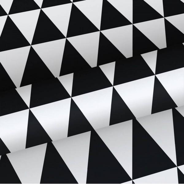Tapeta w czarno-białe trójkąty 128845