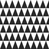 Tapeta geometryczna czarno biała trójkąty