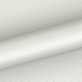 Tapeta ecru w błyszczące kropeczki 137315