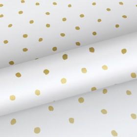 Tapeta w złote ciapki 138937