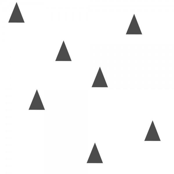 Geometryczna tapeta biała w czarne trójkąty