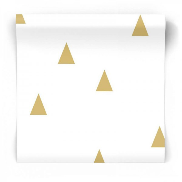 złote błyszczące trójkąty tapeta